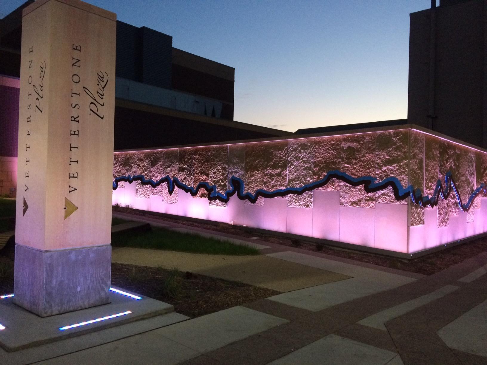 Vetter Stone Plaza River Wall