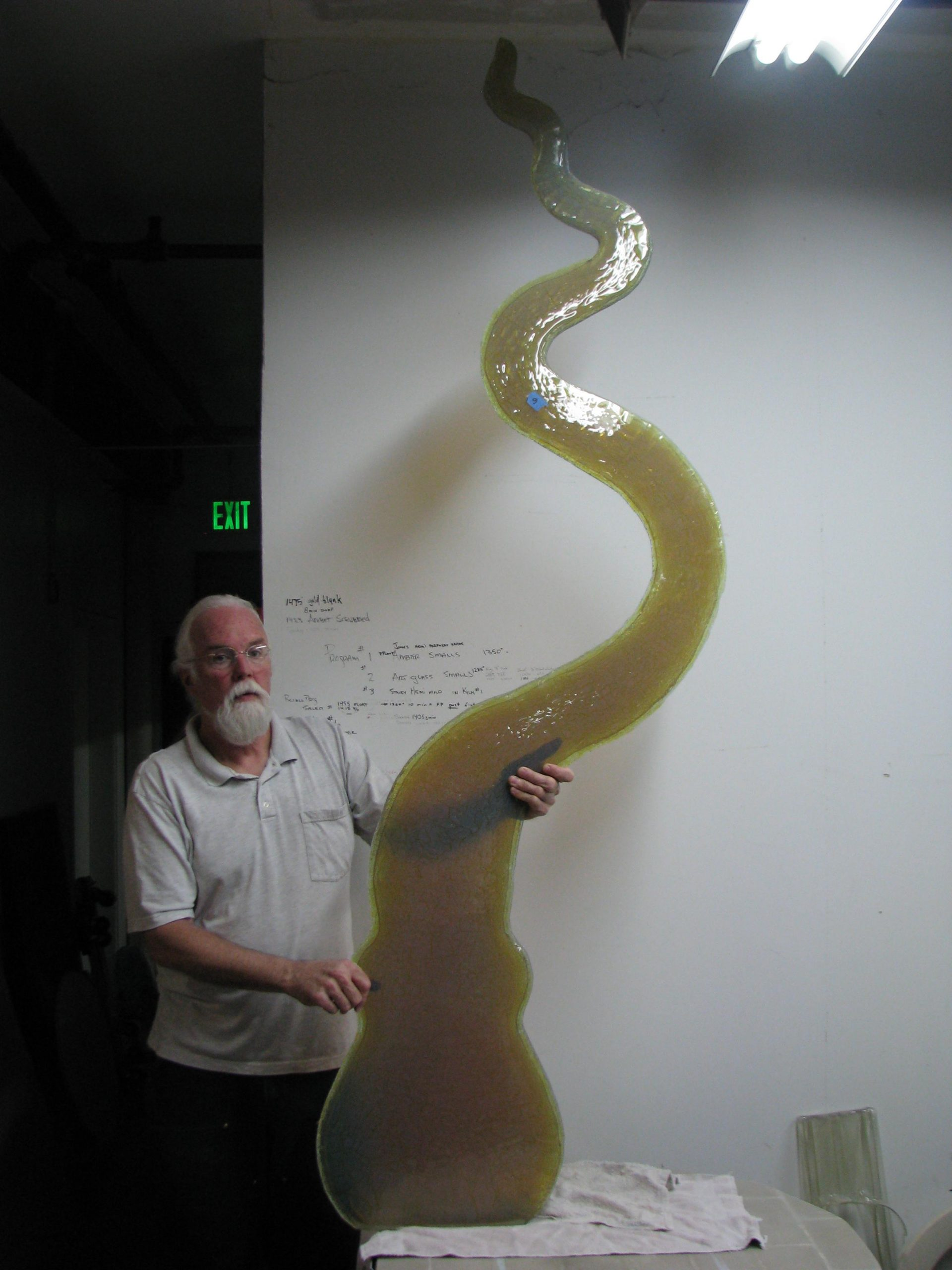 Octavia Fused Glass Sculpture