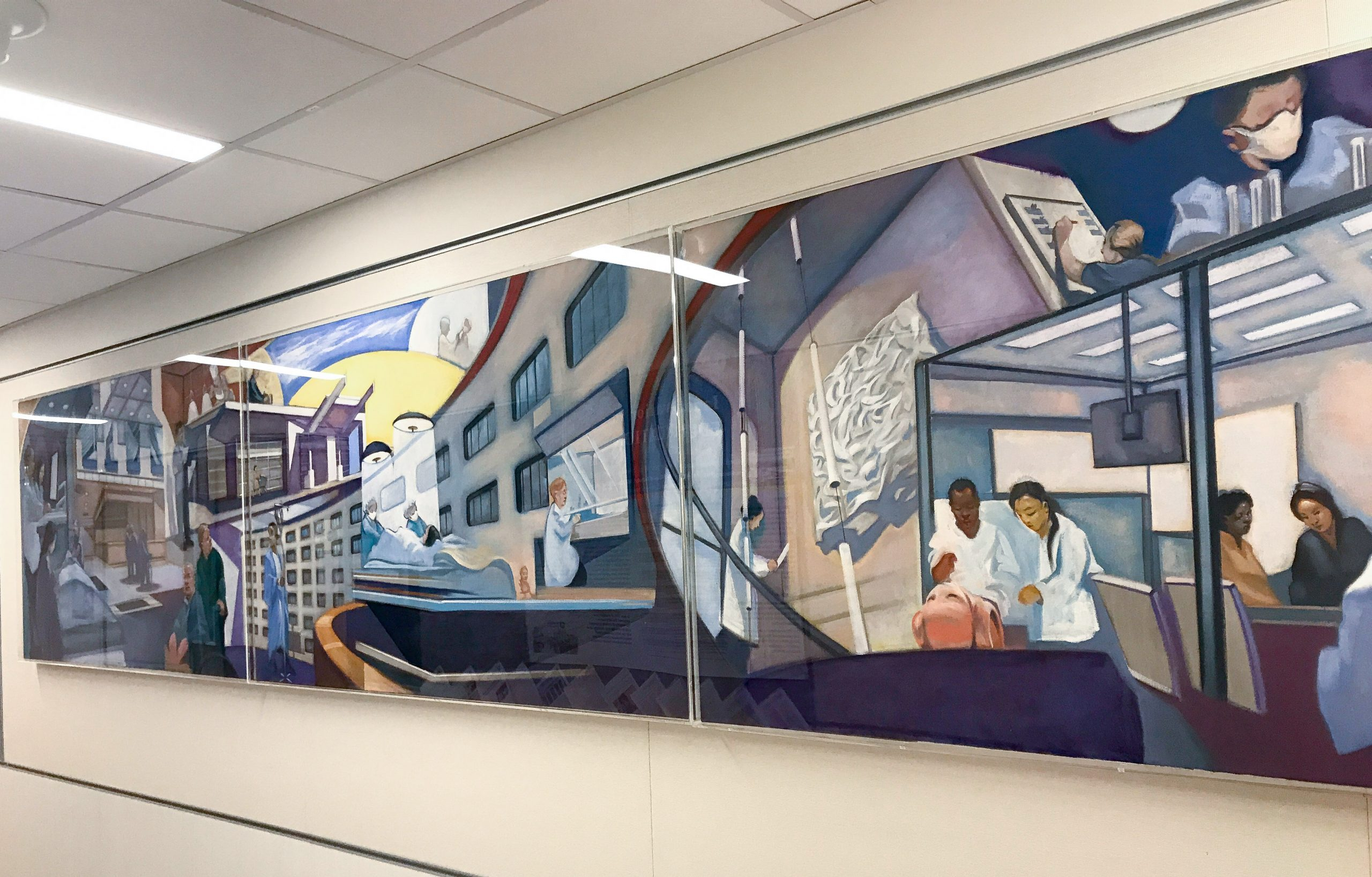 Milton S. Hershey Med Center, Penn State University Murals