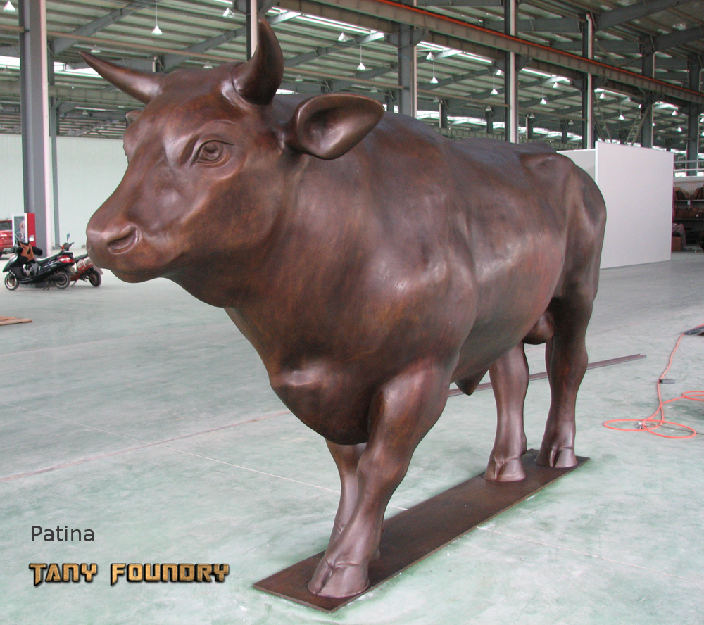 Life Size Bronze Bull Bronze Casting