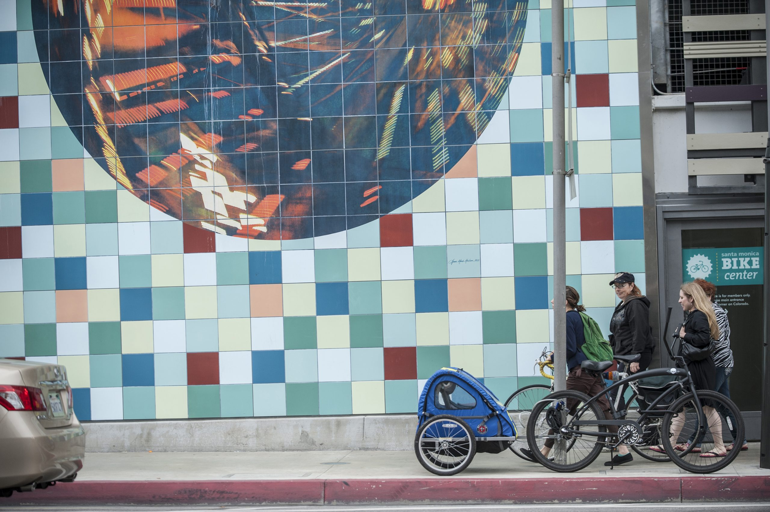 Wheels: Santa Monica Place Parking Garage