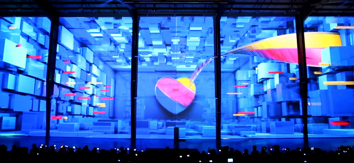 Brand re-launch with Projection Mapping