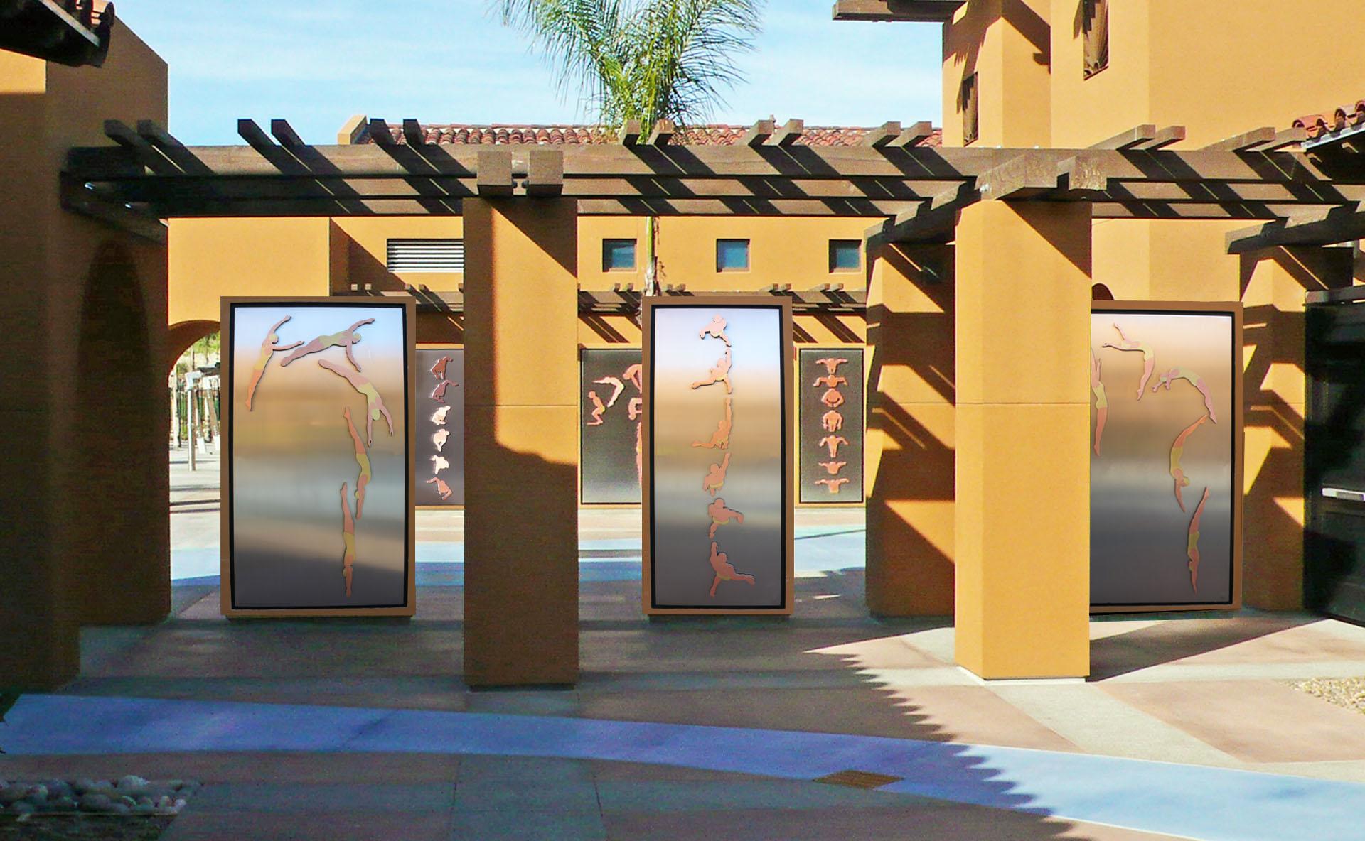 Alga Norte Community Park Aquatics Center Entry