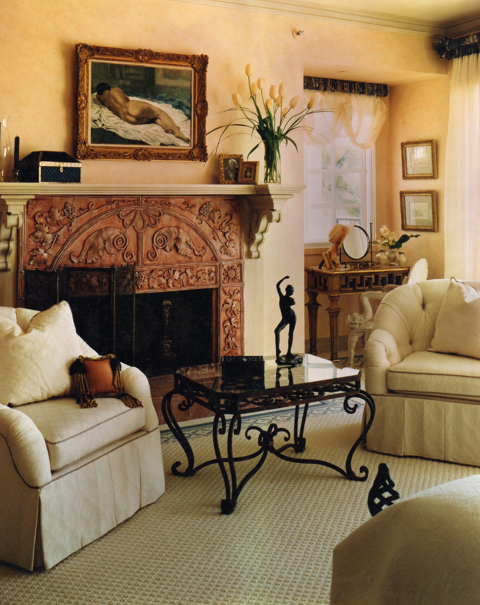Terra cotta Fireplace