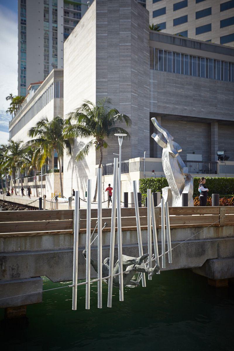 Balancing Sculptures Downtown Miami
