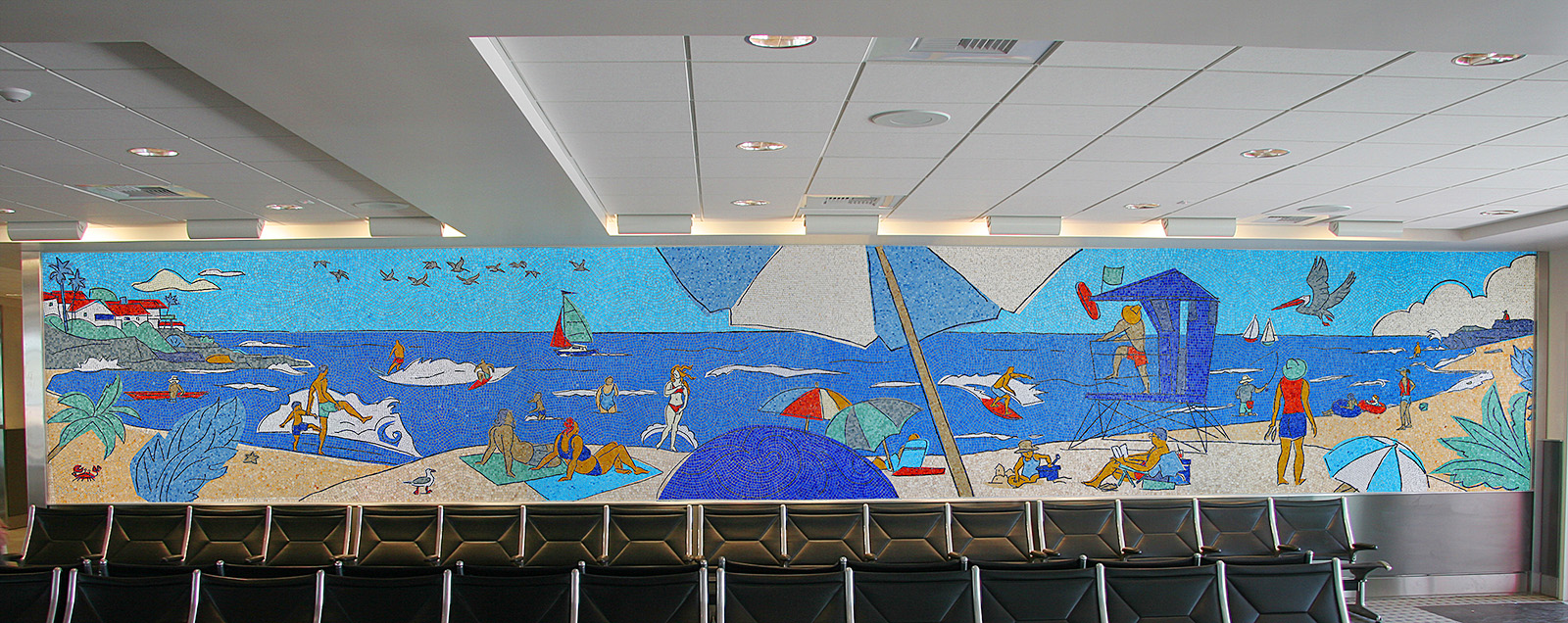 A Day at the Beach Mosaic Mural