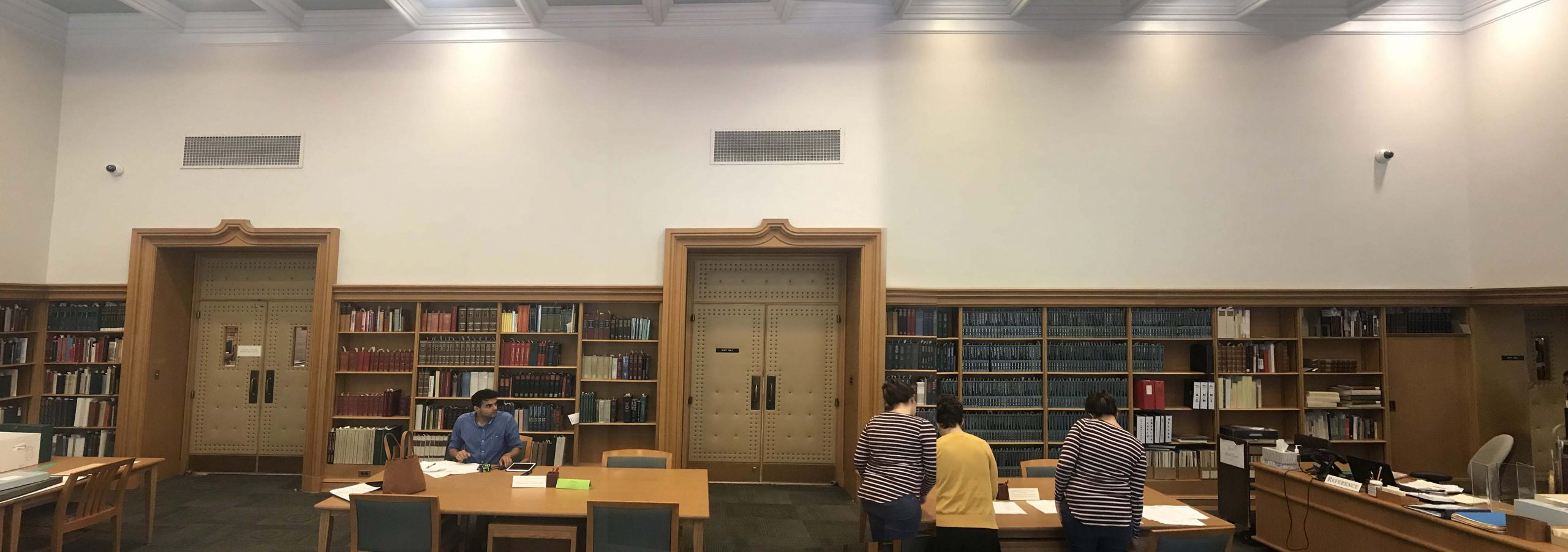 Lilly Library Reading Room  Bicentennial Murals