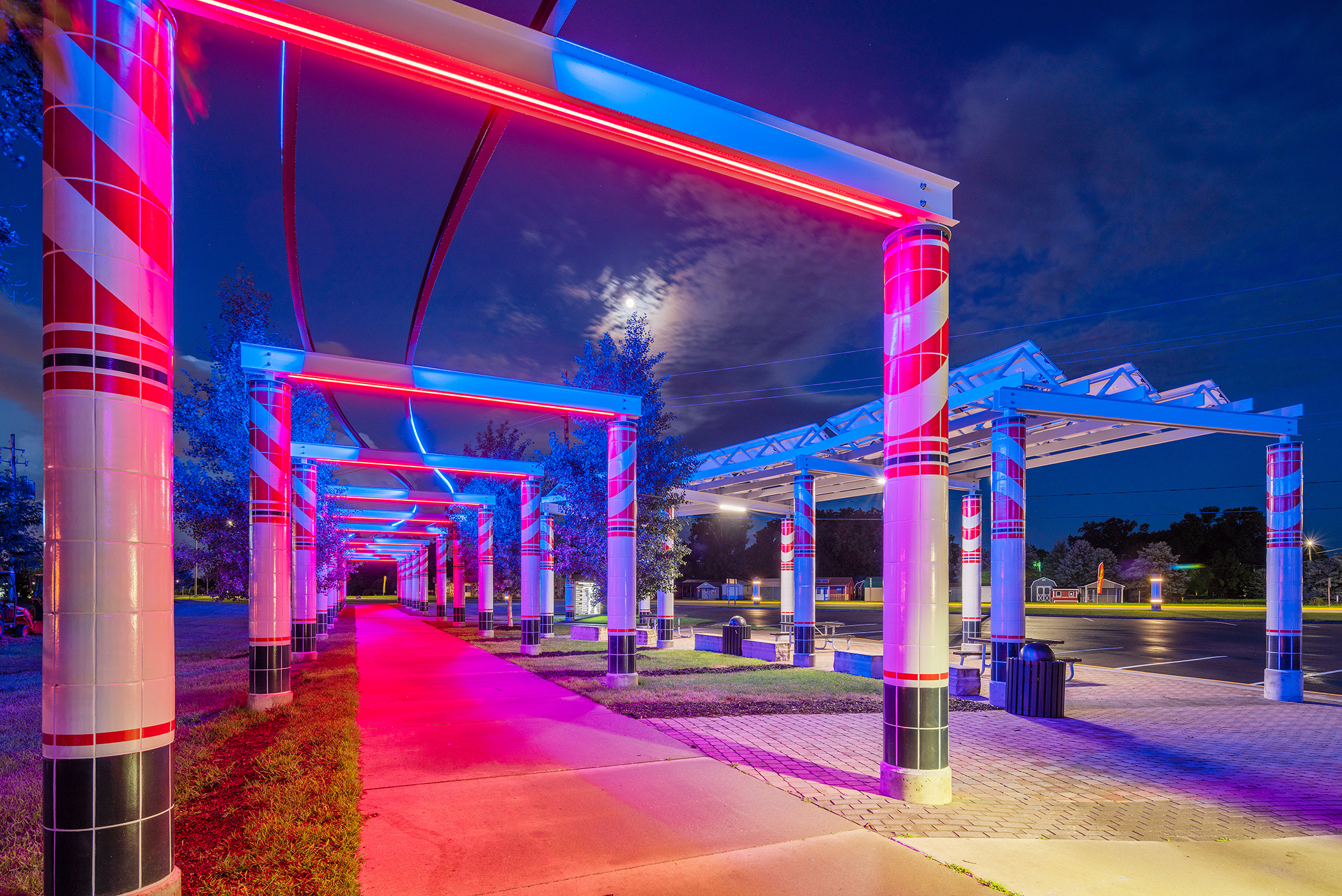 Waukee Railroad Pergola: In the Shadow of the Rails