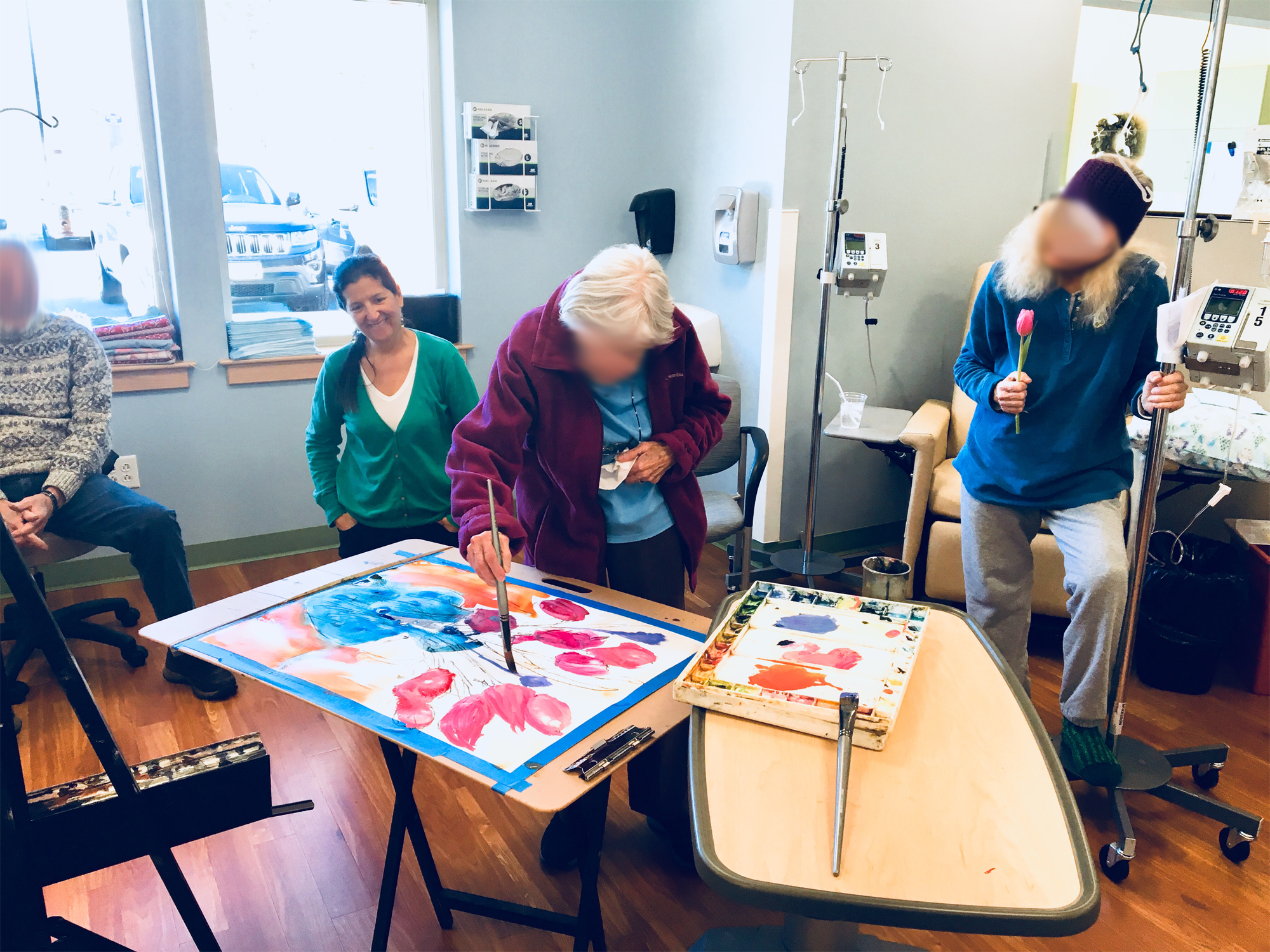 Artist in Chemotherapy Treatment Room