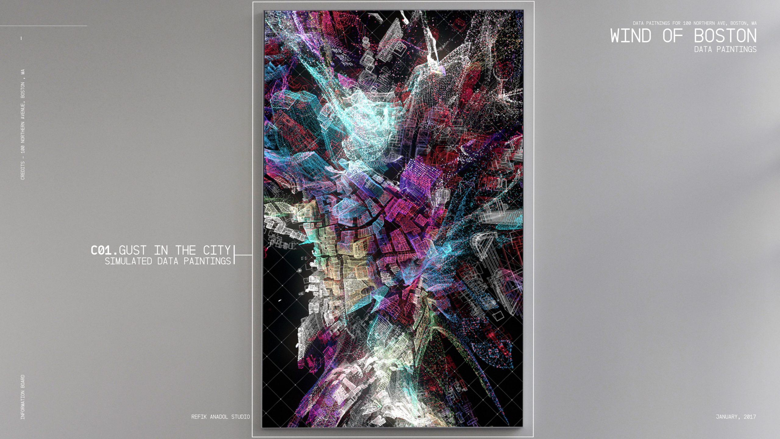 Wind of Boston : Data Paintings