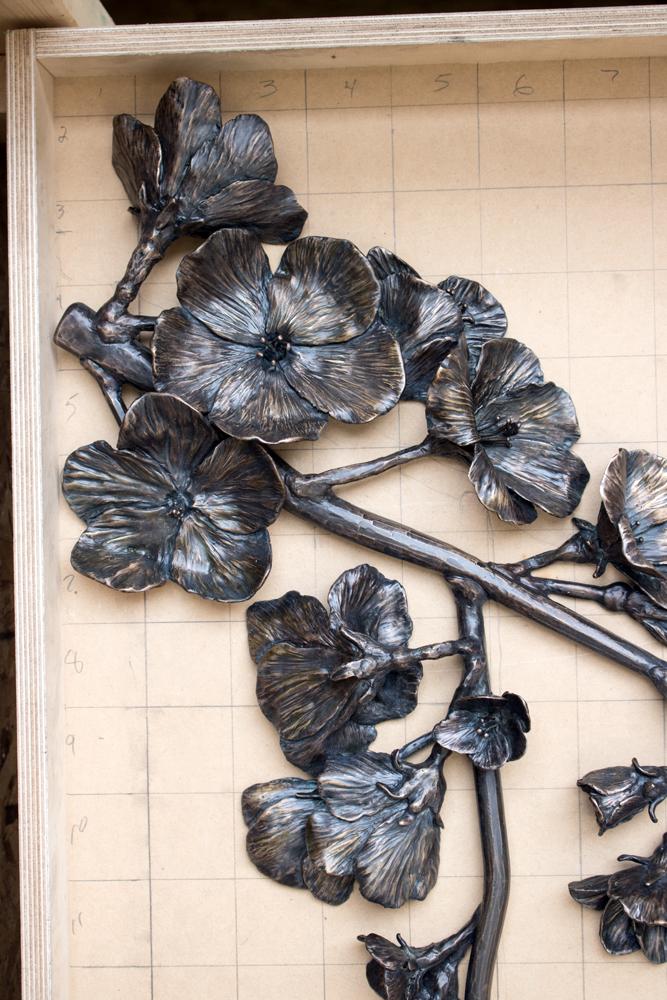 Graduate Hotel East Lansing MI Bronze Cast Apple Blossom Branches