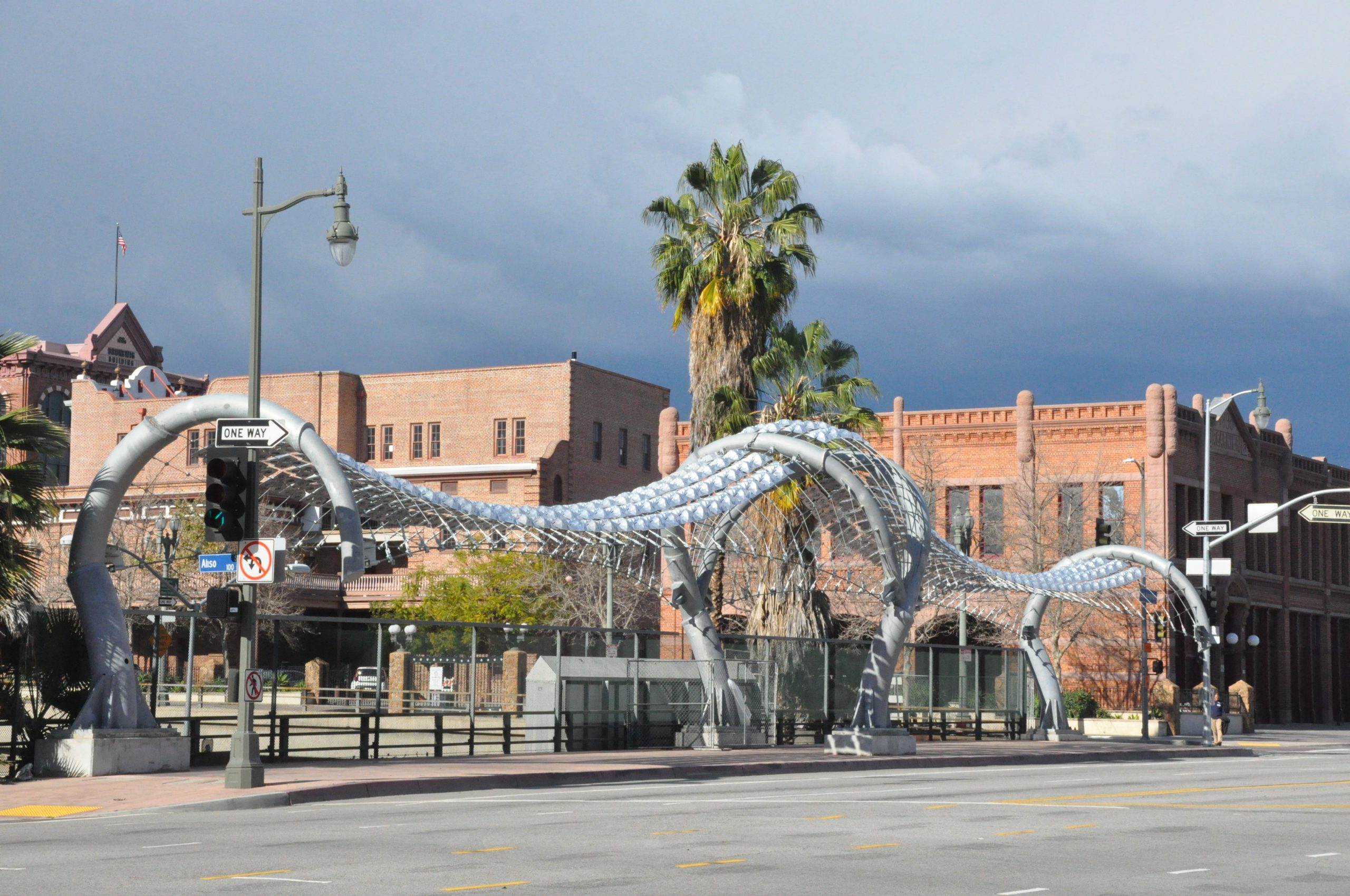 The Gateway to Los Angeles (Twin Dragons) on Los Angeles Street