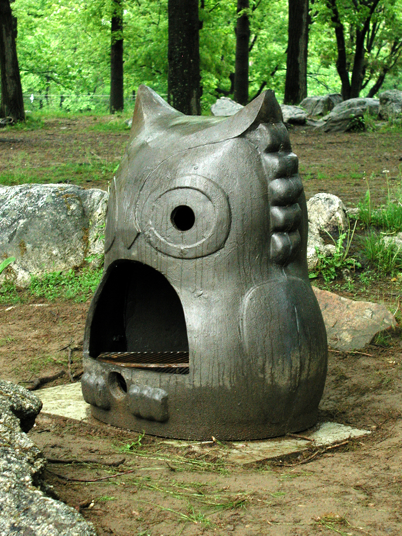 Briquettes and Support: Fox, Bird, Owl, Turtle, Frog