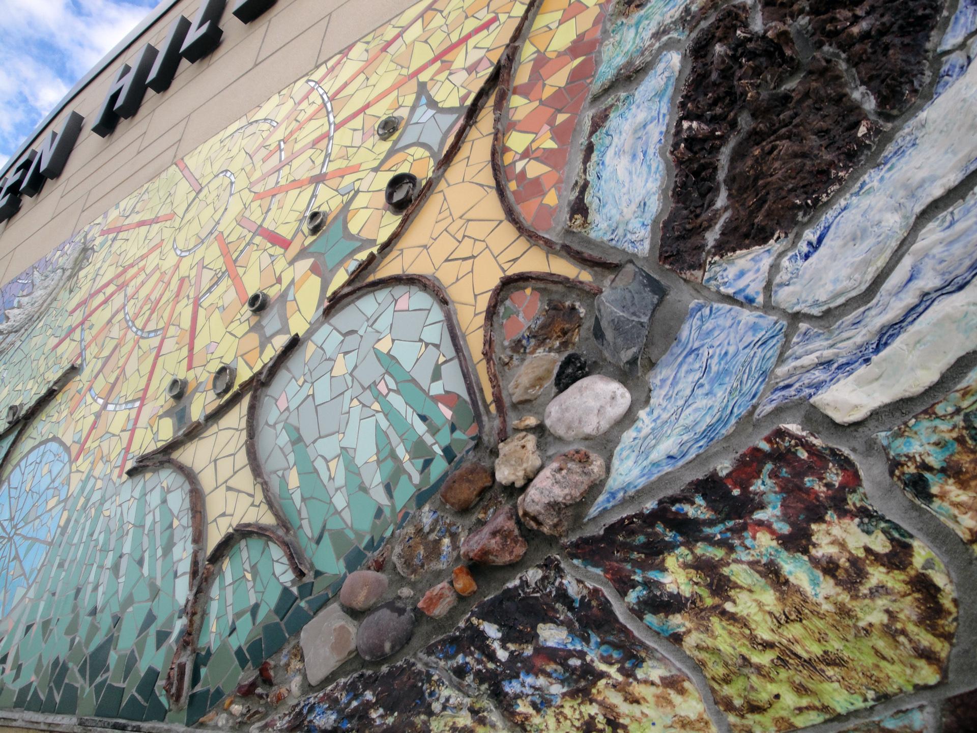 Community Wall at Green Hills Public Library, Palos Hills, IL, USA