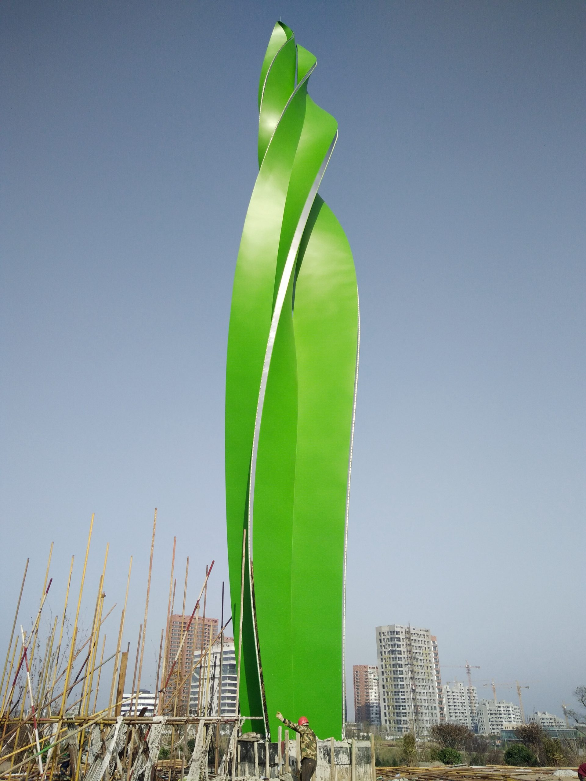 Color Painted Stainless Steel Sculpture-Growing