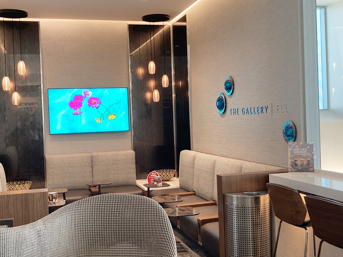 The Portal, Video Installations at Delta Sky Club, Fort Lauderdale-Hollywood Airport
